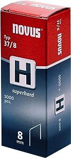 """Novus Fijndraadklemmen 6 mm""""superhard"""", voor hamernieters, XL-verpakking met 5000 nietjes, type 37/6, staaldraad"""