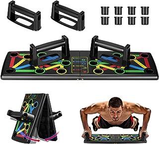 Awroutdoor Push Up Rack Board, 14 in 1 Pieghevole Multifunzionali Body Buiding Push Up Board Attrezzi per Allenamento a Ca...