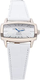 Patek Philippe Gondolo Quartz (Battery) Mother-of-Pearl Dial Womens Watch 4980G-001 (Certified Pre-Owned)