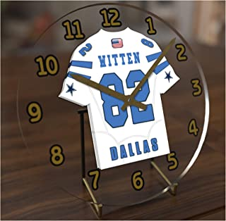FanPlastic Jason Witten 82 Dallas Cowboys Desktop Clock - National Football League Legends Edition !!