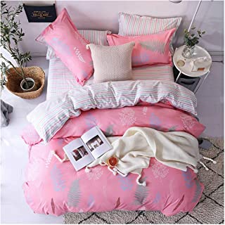 haleysmall Winter Bedding Sets Full King Twin Queen King Size 4Pcs Bed Sheet Duvet Cover Set Pillowcase Without Comforter,B10,Sold 1 Pillowcases,Flat Bed Sheet