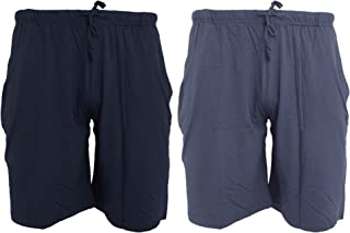 Tom Franks Twin Pack Cotton Jersey Lounge Shorts, Wine and Blue, X-Large