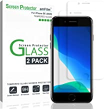 "amFilm Glass Screen Protector for iPhone SE 2020, iPhone 8, 7, 6S, 6 (4.7"")(2 Pack).."