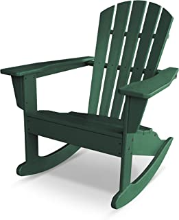 POLYWOOD Palm Coast Adirondack Rocking Chair, Green