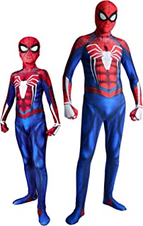 Unisex Halloween Lycra Spandex Game Insomniac PS4 Spider Cosplay Costume Bodysuit Adult Kids