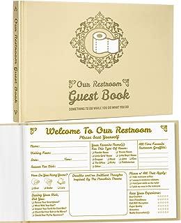 Maad Bathroom Guest Book - Funny Housewarming Gift, Hostess Gift, or White Elephant Gift Idea