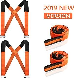 運搬 ベルト キャリーベルト家具移動 移動ベルト2本セット 引っ越しベルト 重たい荷物を楽々運べる 耐荷重200KG 負荷軽減 取り付け簡単 長さ調整可能 持ち運び便利 オレンジ