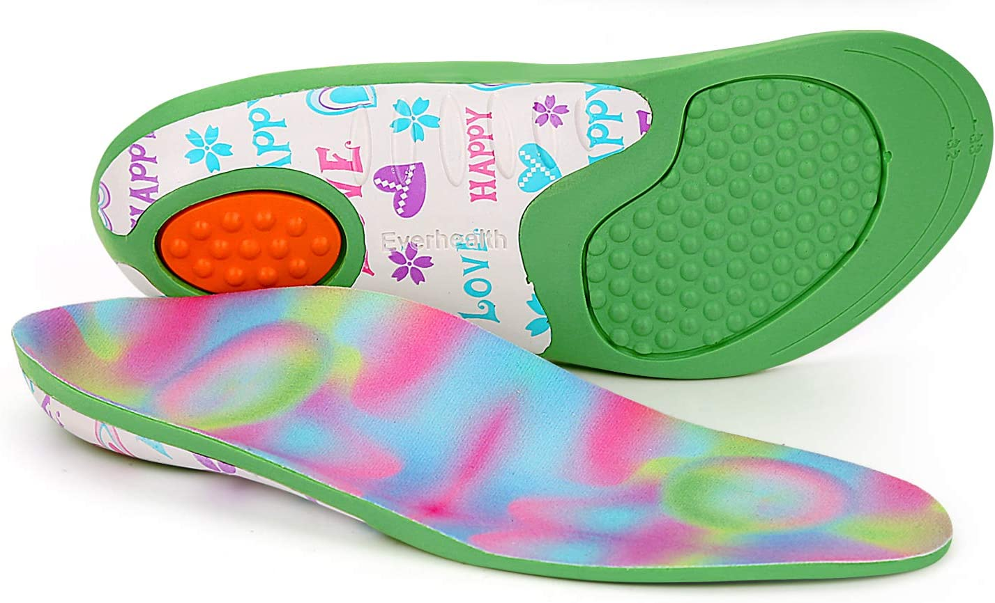 Kids Insoles Shoe Same day shipping Inserts Orthotics Comfort Support Popular standard Arch Shock