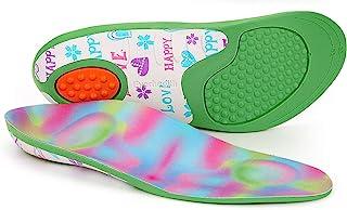 キッズインソール 靴インサート 矯正器具 快適アーチサポート 衝撃吸収 アクティブ 子供 インソール 整形外科 かかと、アーチ、平足、下/オーバー回回 US サイズ: Little Kid: 1-3   32-34 EU   22CM