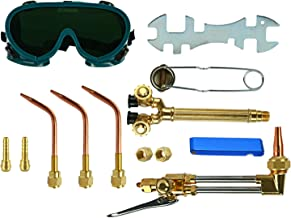 YaeTek 12PCS Oxygen & Acetylene Torch Kit Welding & Cutting Gas Welder Tool Set..