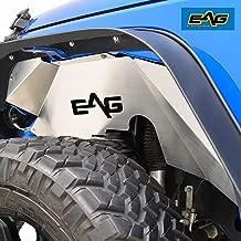 EAG Front Inner Fender Liner Wells Silver Aluminum Fit for 07-18 Jeep Wrangler JK