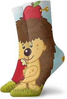 Novedad Divertido Crazy Crew Sock Hedgehog con frutas Impreso Sport Calcetines deportivos Calcetines de regalo personalizados de 30 cm de largo