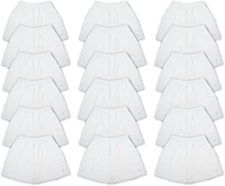 Men's 18 Pack Full Cut Cotton Boxers Sleep Shorts - Value Pack