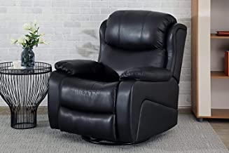 Pan Emirates Wexford Rocking Massage and Heating Recliner Chair, Black