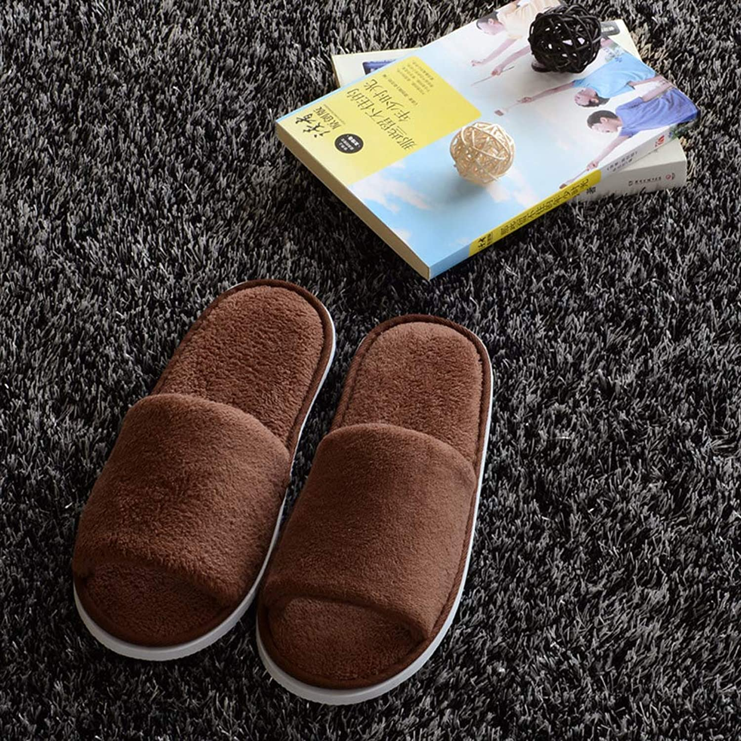 Hotel Disposable Slippers Open Toe Spa Terry Guest shoes - Men Women Non-Slip Slippers,C,10Pair