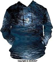UHOO Witchcraft Spell Men's Hoodie Print Pullover Hooded Long Sleeve Autumn