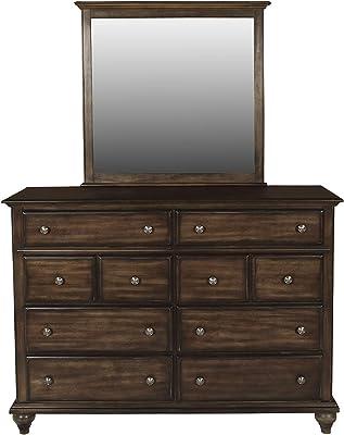 New Classic Furniture Fallbrook Dresser, Weathered Brown
