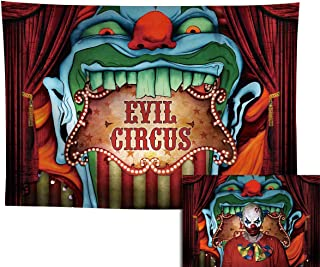 Allenjoy 7x5ft Evil Halloween Circus Backdrop for Photography Birthday Party Supplies Decoration Giant Entrance Scary Carn...