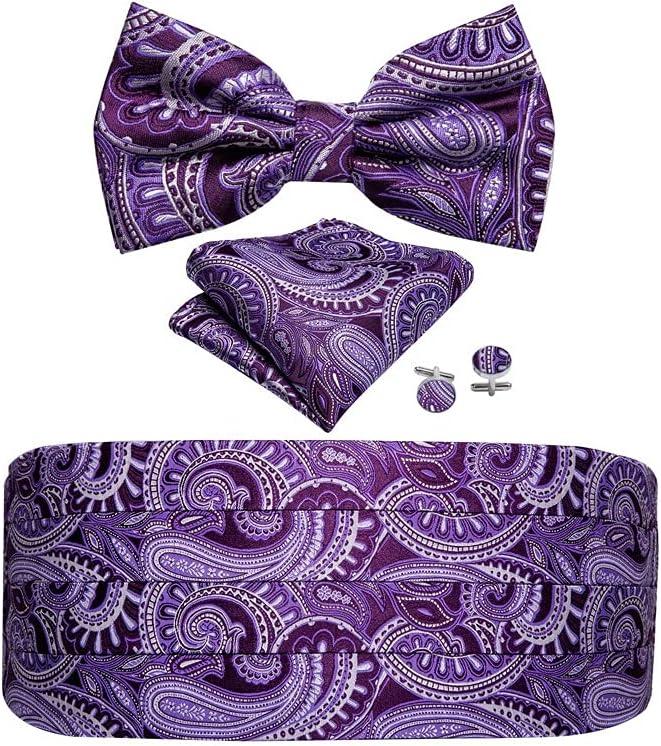 UXZDX Inventory cleanup selling sale CUJUX Men Silk Floral Bow Pocket Cufflink Square 2021 Tie Set F