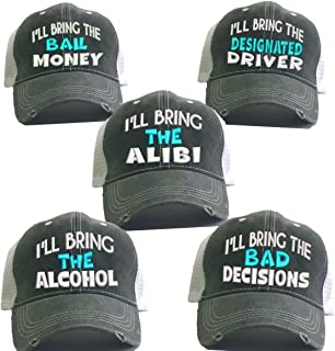 b4f02b82c3d3cf Men Or Women's Trucker Hats I'll Bring The Alcohol Bad Decisions Set/ 5