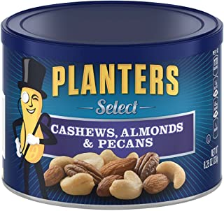 Planters Mixed Nuts, Select Cashew, Almond, Pecan Mix, 8.25 Ounce (Pack of 3)