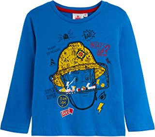 Boys Kids Children Blaze Fireman Sam Long Sleeve T-shirt Tshirts Tee Top Age 2-8