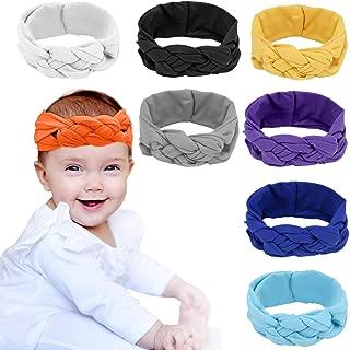 Baby Girl Headbands Elastic Nylon Bows Headband Baby Girl Gift Hair Accessories (8pcs)