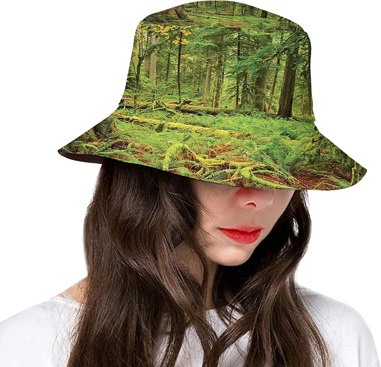 Fashion Bucket Hat for Women Men,Polyester Summer Sun Beach Fishing Cap