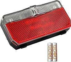 nean Fietsachterlicht met reflector en StVZO-goedkeuring incl. batterijen, reflectoren met reflector, led-achterlicht,...