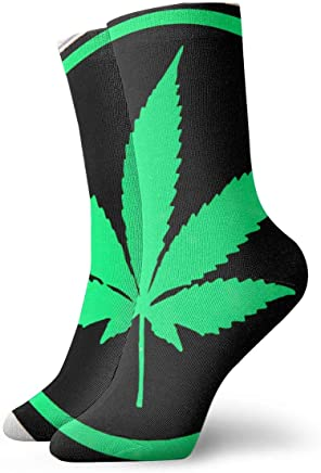 KYWYN Unisex Psychedelic Marijuana Weed Cozy Cotton Athletic Crew Socks Fun Cute Dress Socks,Novelty Gift for Kids Teens