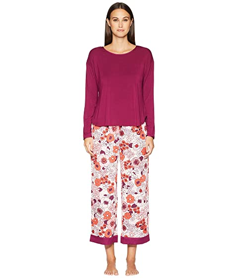Kate Spade New York Cropped Long Sleeve Pajama Set