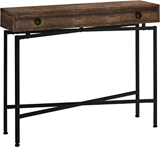 "Monarch Specialties ACCENT TABLE - 42""L / BROWN RECLAIMED WOOD/ BLACK CONSOLE"