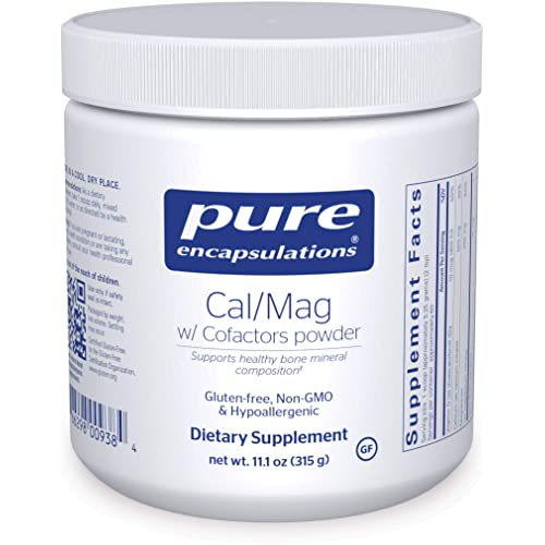 Pure Encapsulations - Cal/Mag with Cofactors Powder - Highly-Absorbable Calcium with Magnesium, Vitamin D, Boron, Silica and Xylitol - 11.1 Ounces