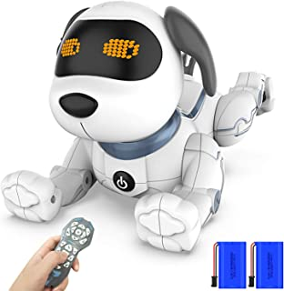 okk Remote Control Puppy Robot for Kids, Wireless RC Puppies Interactive Smart Toy, Educational Electronic Robotic Pet Dog That Walk, Bark, Sing, Dance for Boys and Girls Age 6, 7, 8, 9, 10