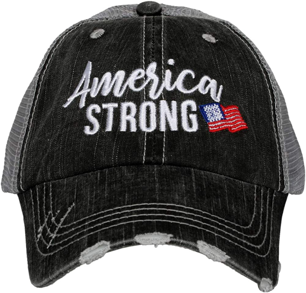 KATYDID America Strong Baseball Hat - Trucker Hat for Women - Stylish Cute Baseball Cap Gray