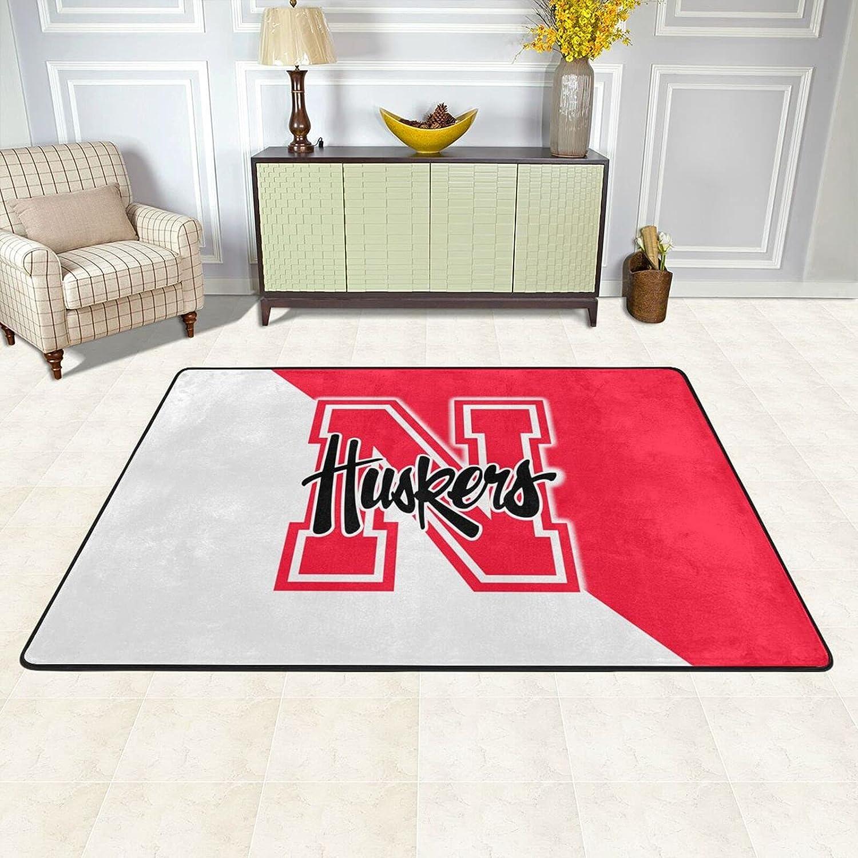 San Jose Mall Nebraska Cornhuskers University Carpet Area Luxury Super In All items free shipping Soft