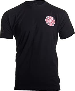 Firefighter Maltese Cross | Fire Fighter Rescue Courage Honor Red Line T-Shirt