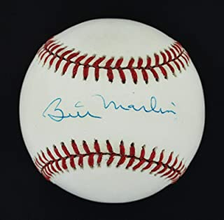 billy martin autographed ball