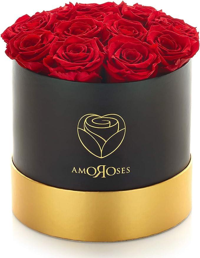 60 opinioni per Amoroses 12 Rose Stabilizzate Vere durano Anni- Idea Regalo per Lei Originale