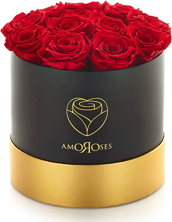 12 rose stabilizzate vere durano anni -  amoroses B081Z8CDF7