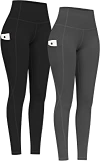 2 Pack High Waist Yoga Pants with Pockets, Tummy Control...