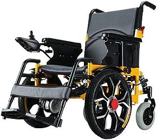 NOLLY Silla De Ruedas Eléctrica, Plegable, De Aluminio, con Motor, para Discapacitados, Minusválidos, Ancianos, Ortopedica, para Mayores,12A