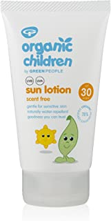 Green People Organic Children Sun Lotion SPF30 – Scent Free 150ml (packaging may vary)