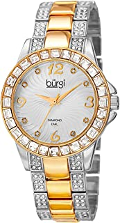Burgi Women's Silver Dial Alloy Band Watch - BUR137TTG