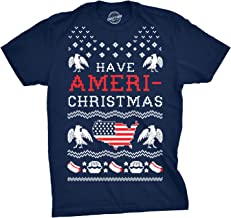 Crazy Dog T-Shirts Mens Have Ameri-Christmas Tshirt Funny USA Patriotic Tee
