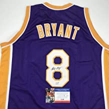 Autographed/Signed Kobe Bryant #8 Los Angeles LA Purple Basketball Jersey PSA/DNA COA