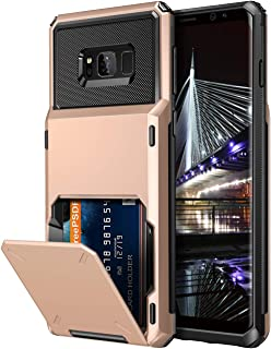 Vofolen Case for Galaxy S8 Plus Case Wallet 4-Slot Pocket Credit Card ID Holder Scratch Resistant Dual Layer Protective Bumper Rugged Rubber Armor Hard Shell Cover for Samsung Galaxy S8 Plus Rose Gold