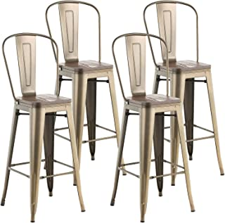 Best metal bar stools with wood seat Reviews