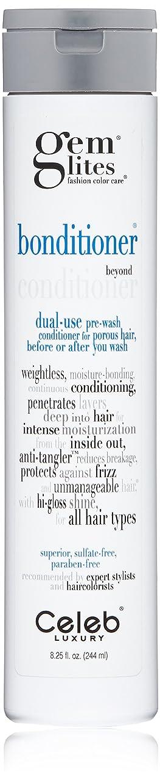 寄付リスト世辞CELEB LUXURY 宝石LitesのBonditionerデュアルユースコンディショナー:保湿、アンチ絡み、アンチ縮れ、ハイグロスシャイン、シトラスブルーム、プレ洗浄および洗浄後の色-処理した毛髪のため、硫酸フリー、虐待フリー、100%ビーガン 240ミリリットル 明確な