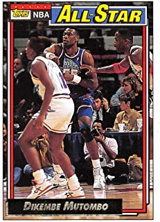9cf7c6e4b90 1992-93 Topps Gold Basketball #110 Dikembe Mutombo Denver Nuggets AS  Official NBA Trading